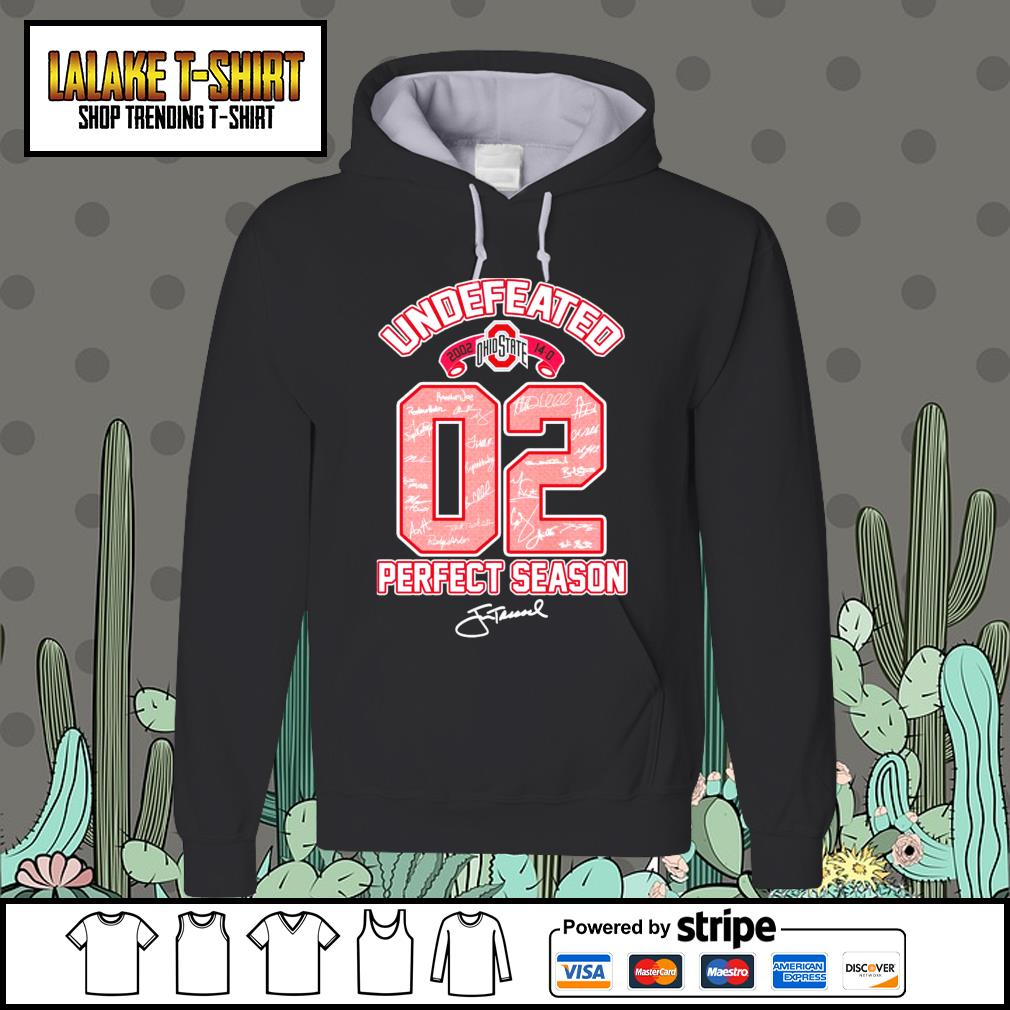 02 Ohio State Buckeyes undefeated perfect season signature Hoodie