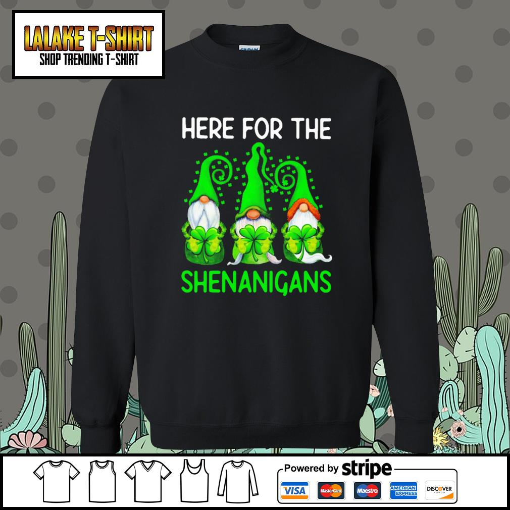 Gnomes here for the Shenanigans St.Patrick's day Sweater