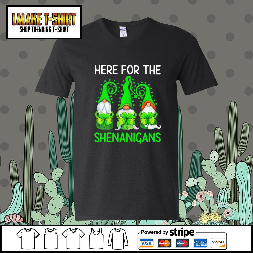 Gnomes here for the Shenanigans St.Patrick's day V-neck-T-shirt
