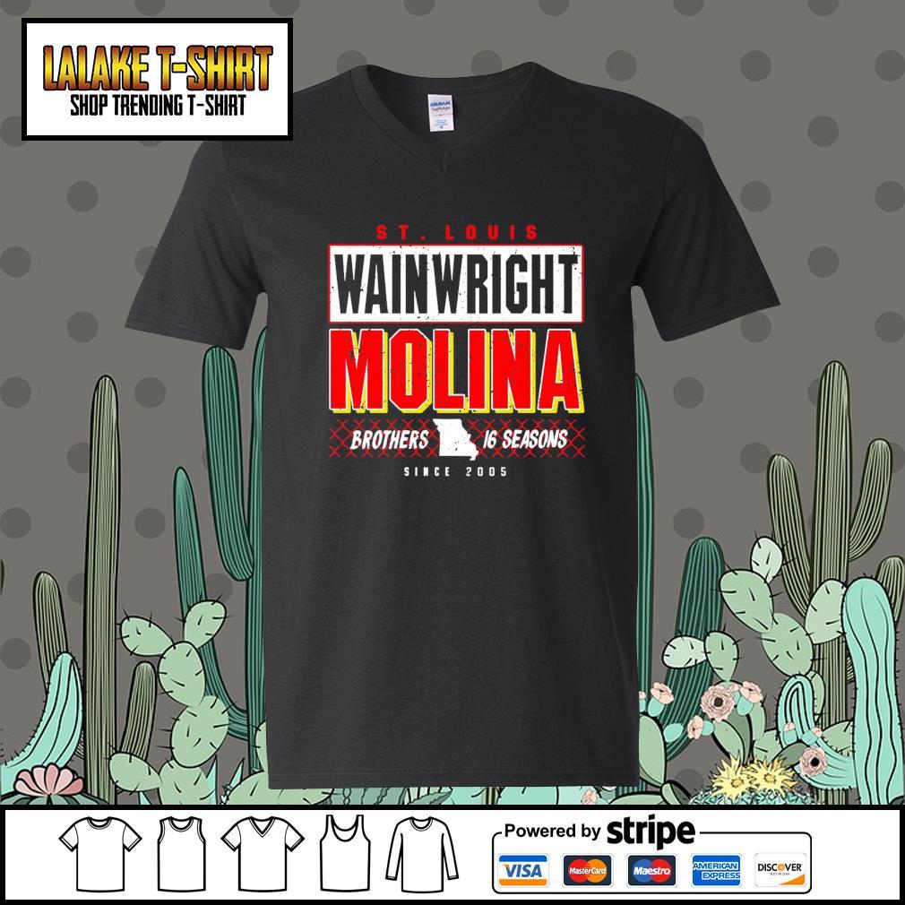 St.Louis wainwright Molina brothers 16 seasons since 2005 V-neck-T-shirt