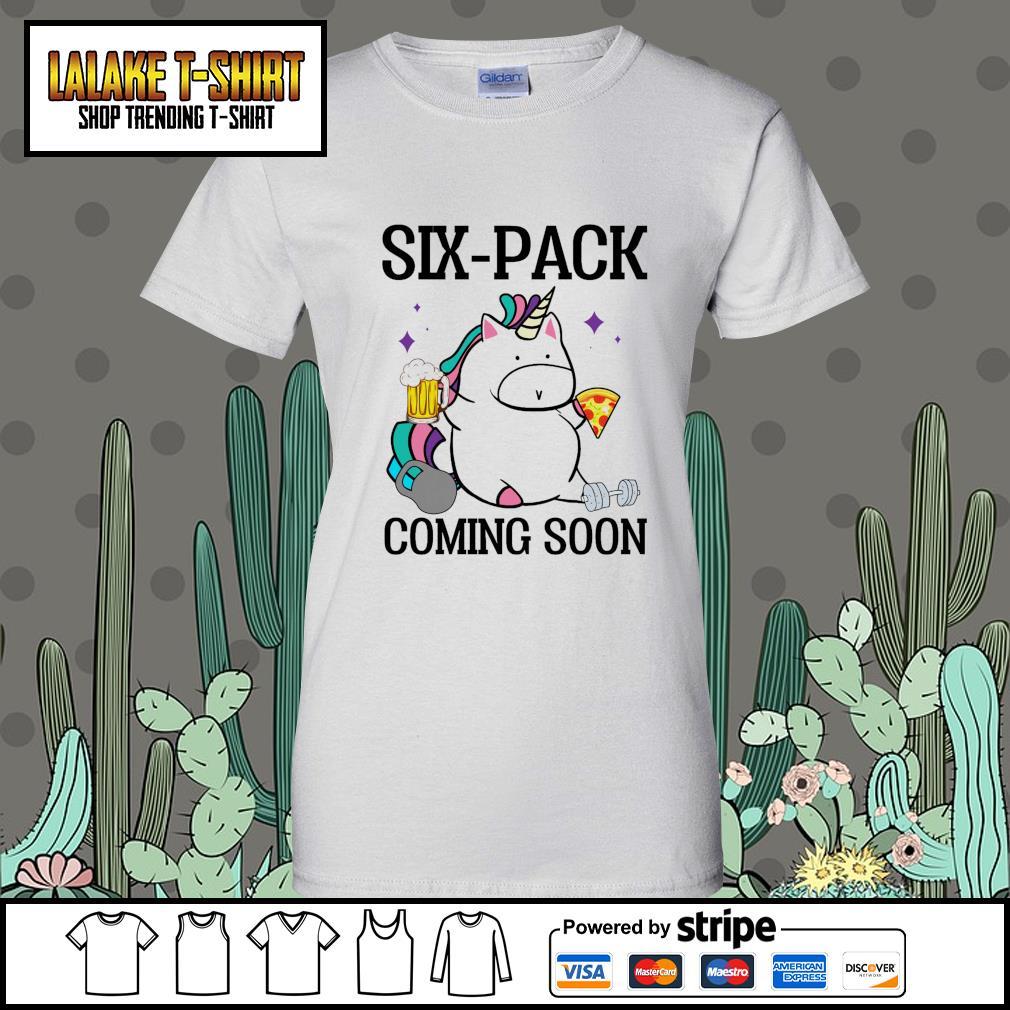 Unicorn six pack coming soon Ladies-Tee