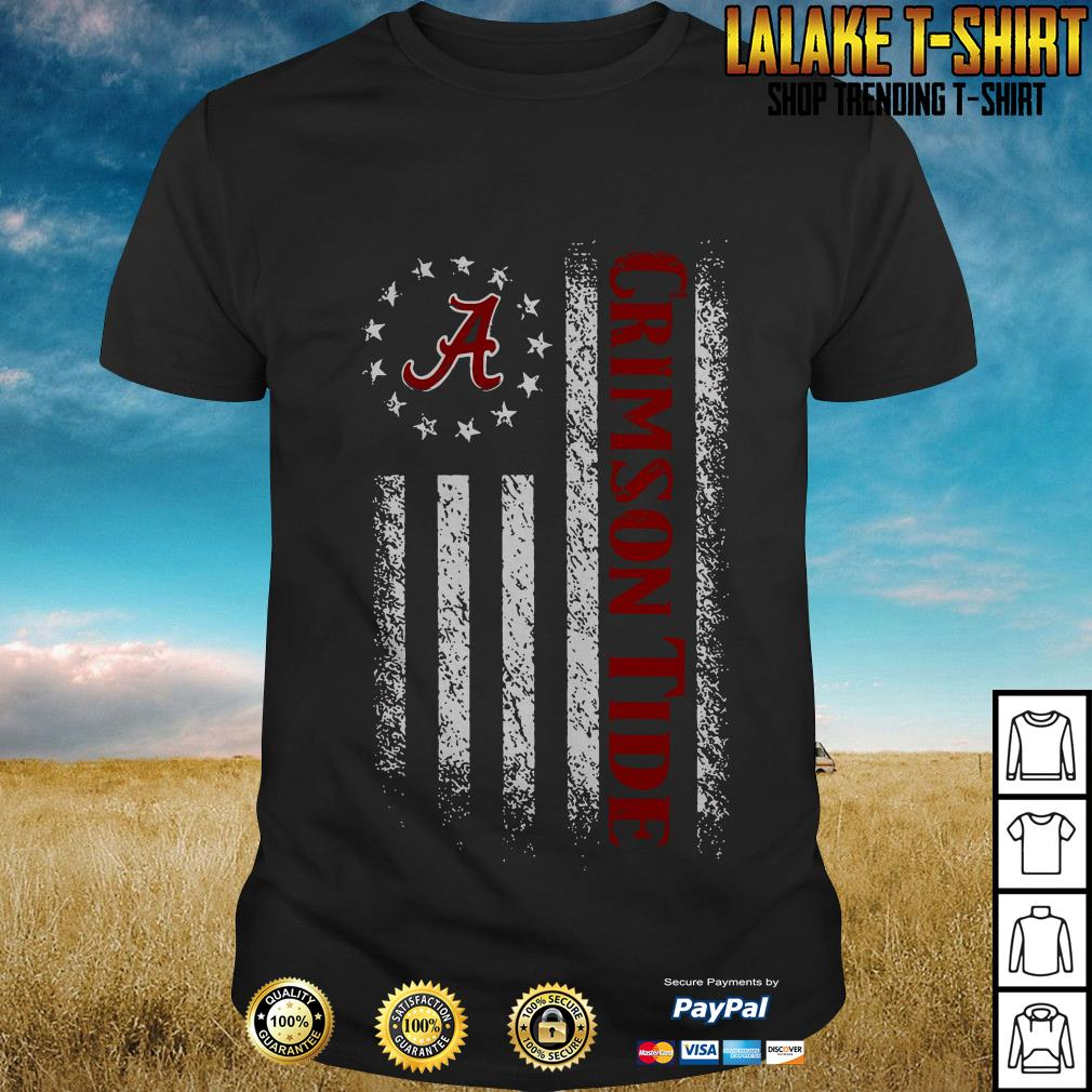 Alabama Crimson Tide Heartbeat American Flag Version shirt