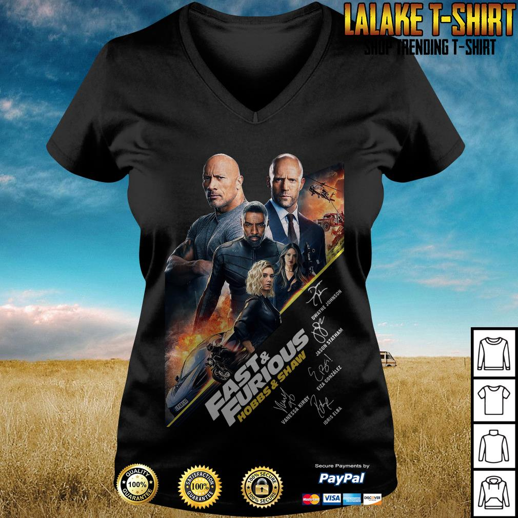 Fast And Furious Present Hobbs Shaw 2019 V neck T-shirt