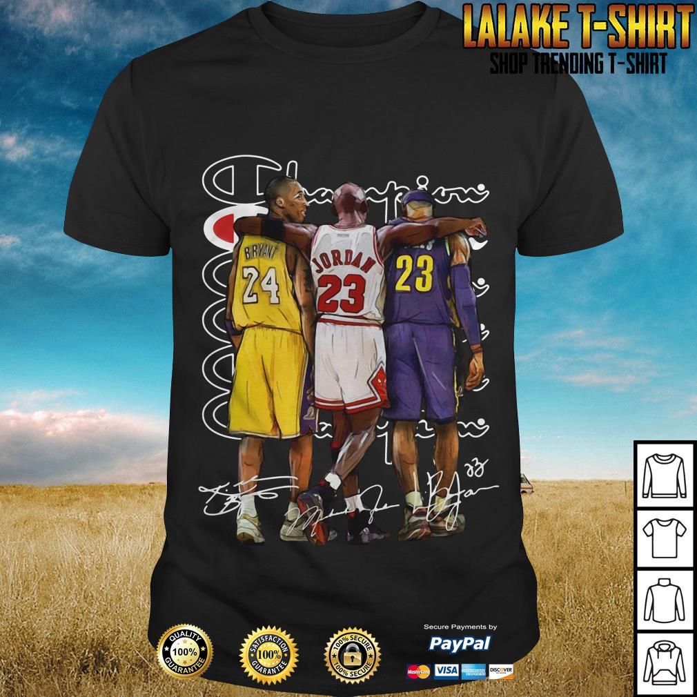 save off db716 ac8a4 Kobe Bryant, Michael Jordan and LeBron James Champion shirt ...