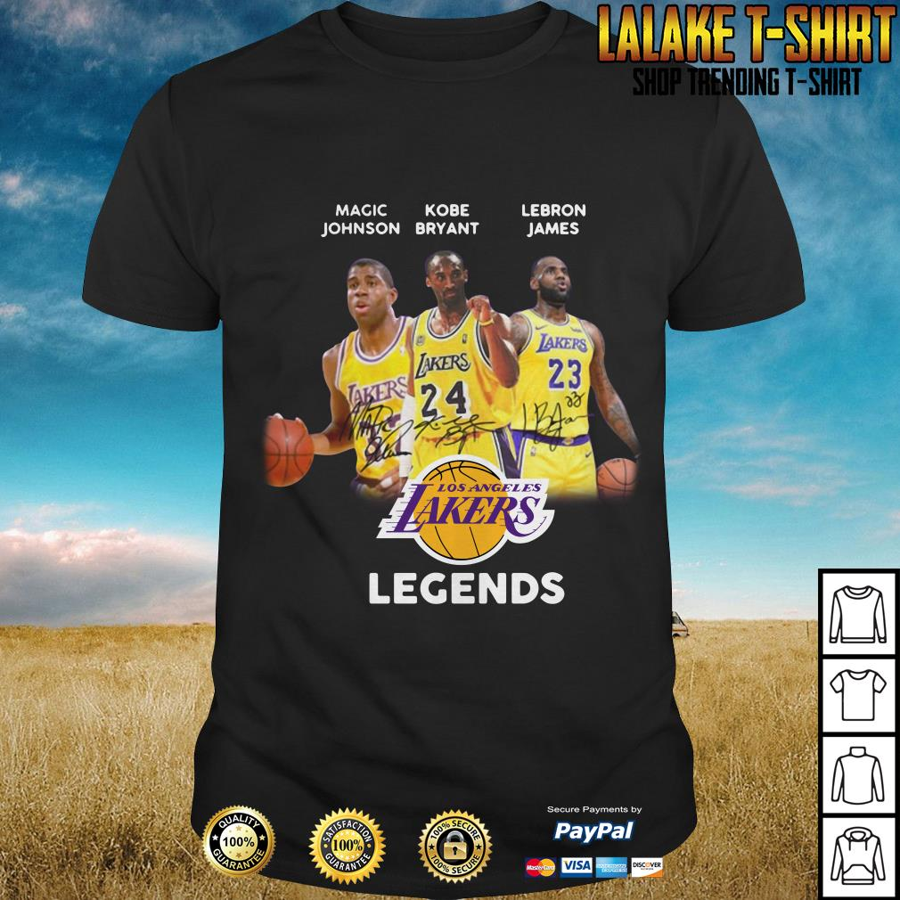 more photos 6d4e5 5f84a Kobe Bryant, Magic Johnson LeBron James Los Angeles Lakers ...