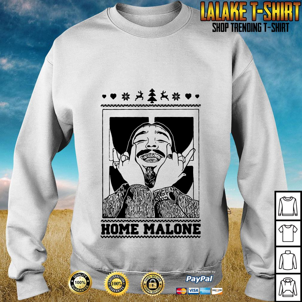 Post Malone Home Malone Christmas Ugly Sweat Shirt, Hoodie