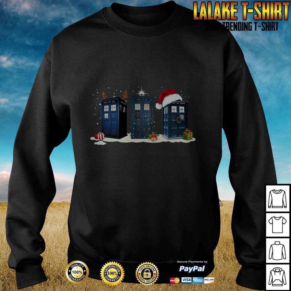 Doctor who Tardis Police box Christmas shirt, hoodie ...