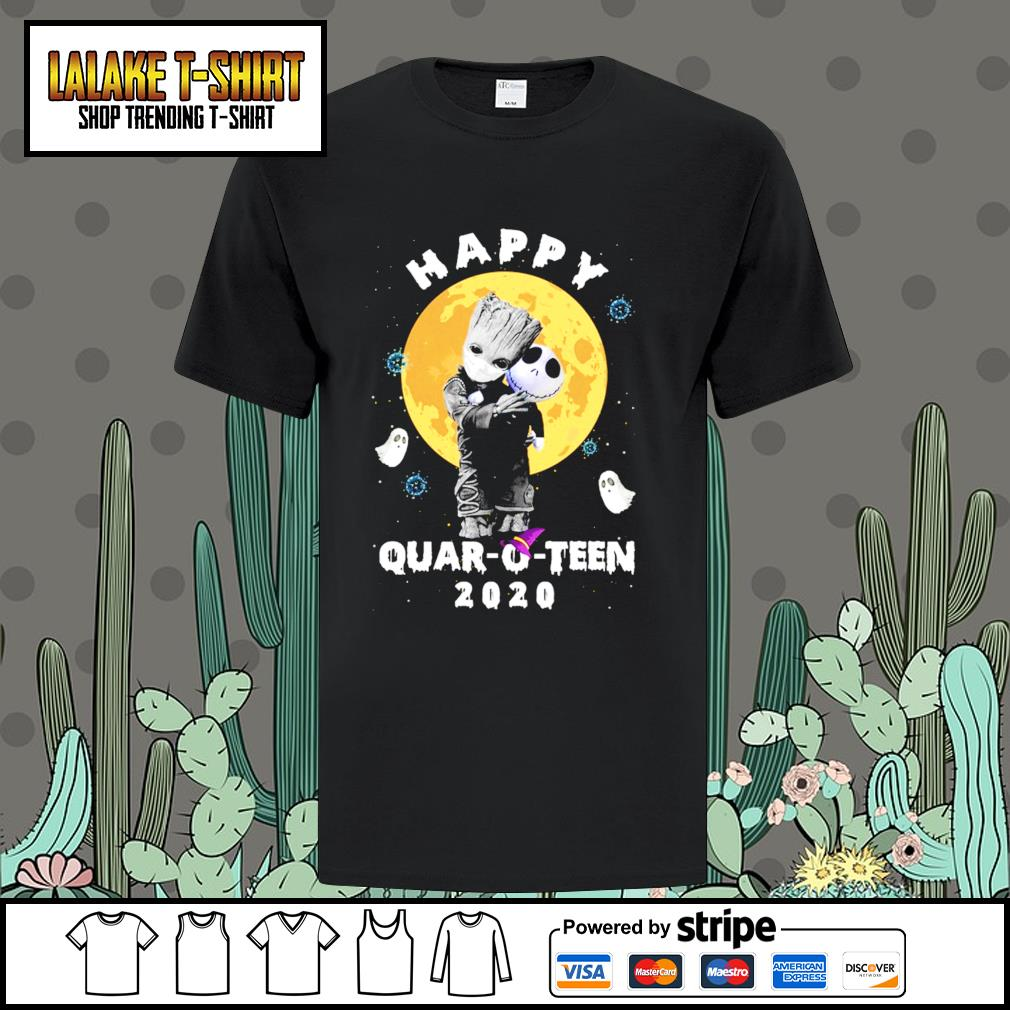 Skellington Happy Halloween 2020 Baby Groot hug Jack Skellington happy Quar O Teen 2020 Halloween