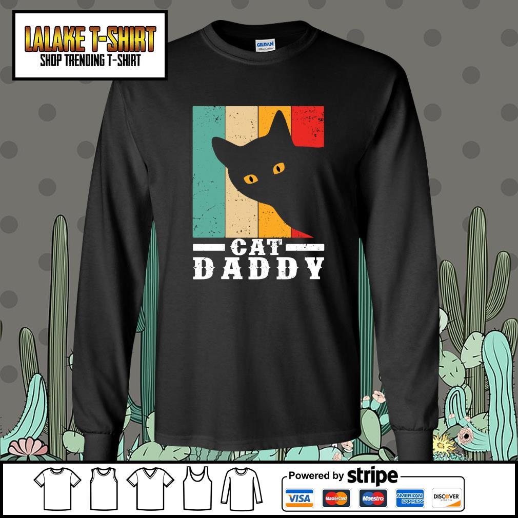 Black cat daddy vintage s longsleeve-tee