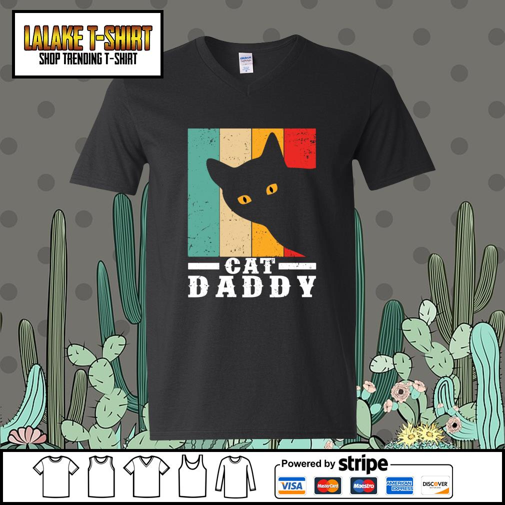 Black cat daddy vintage s v-neck-t-shirt