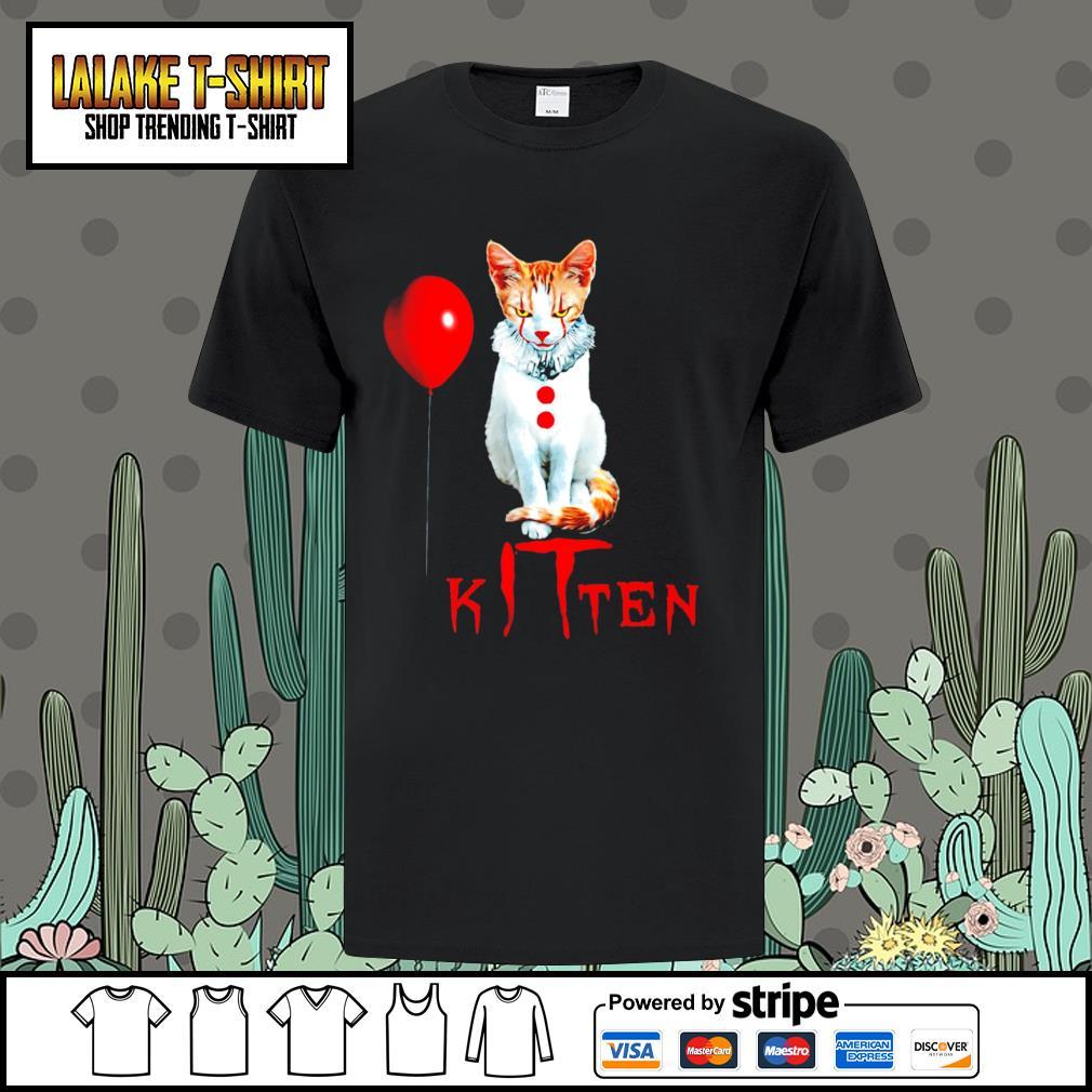 Cat Pennywise IT kitten Halloween shirt