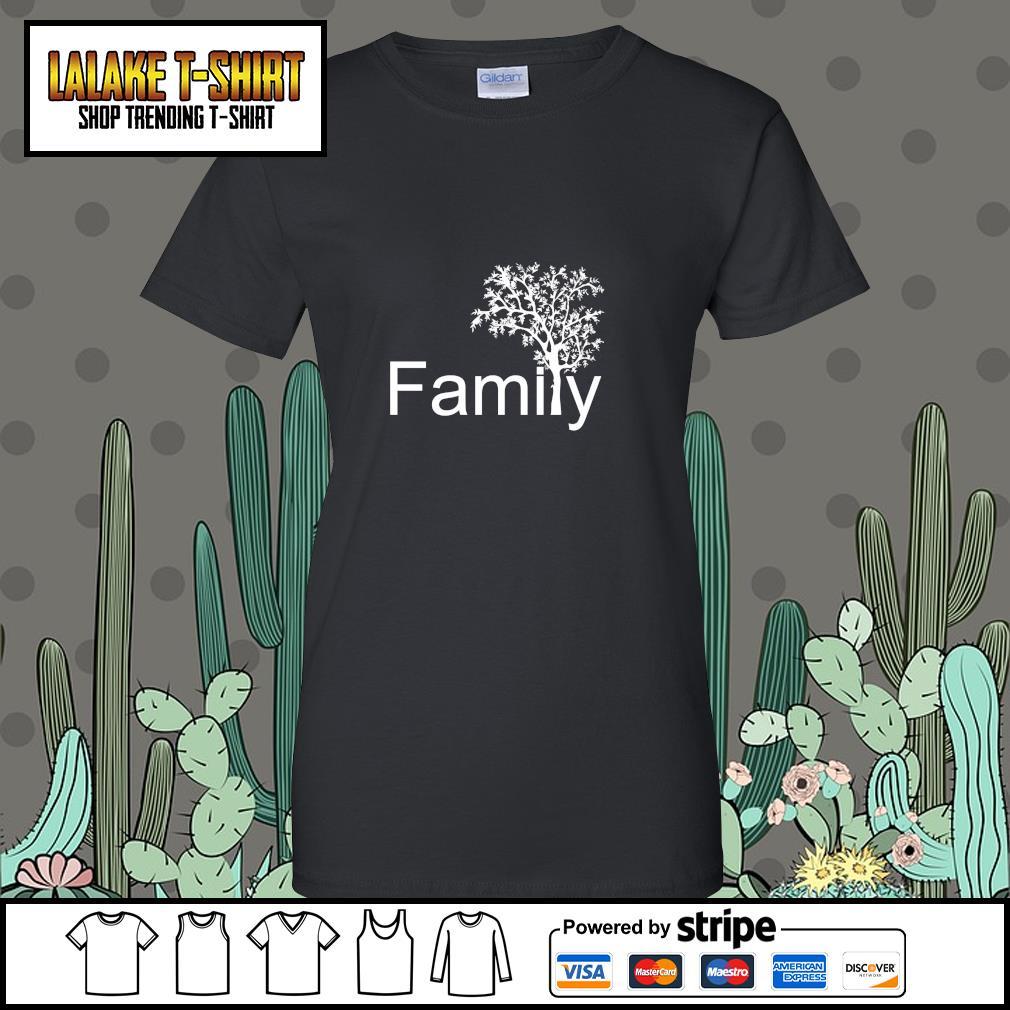 Family tree genealogy s ladies-tee
