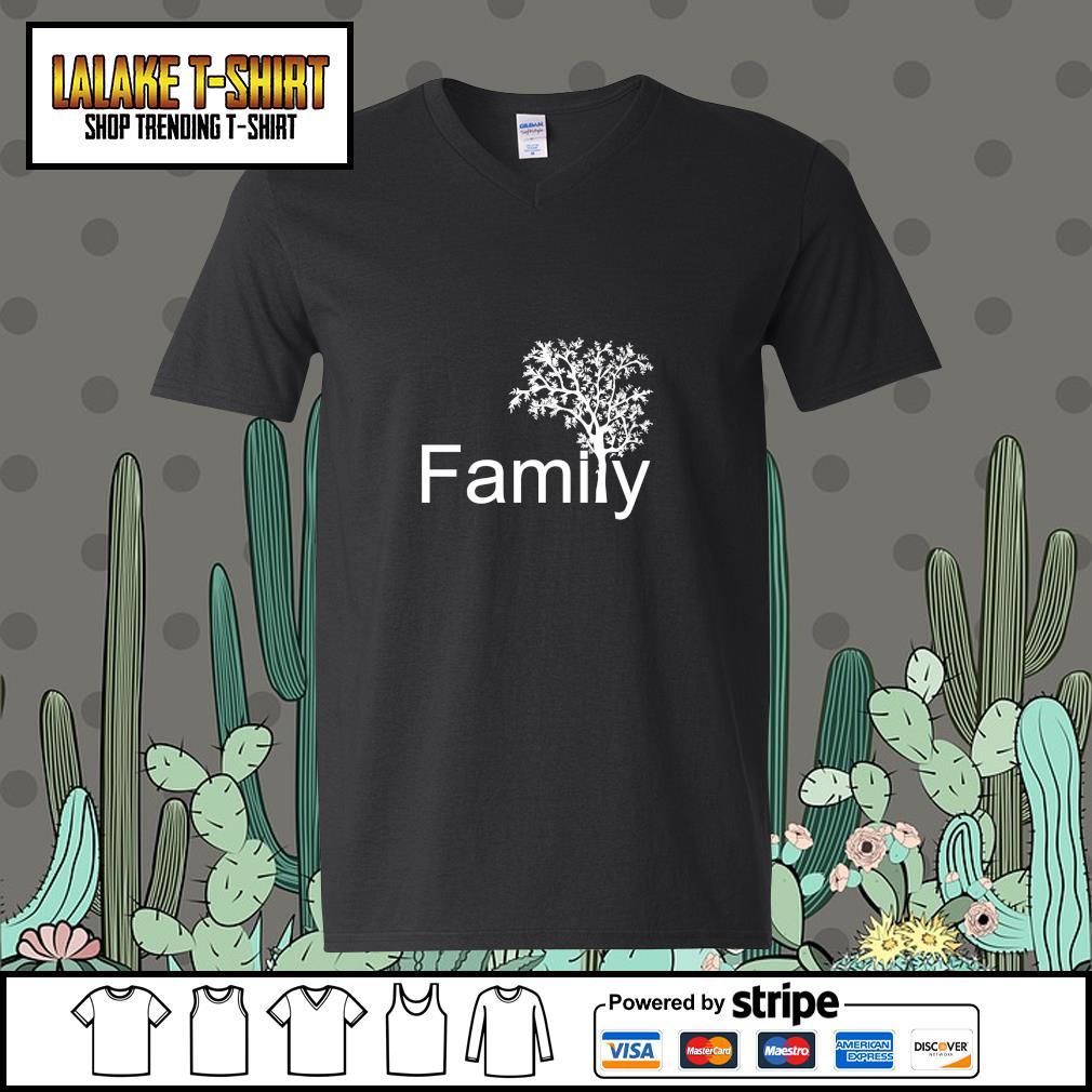 Family tree genealogy s v-neck-t-shirt