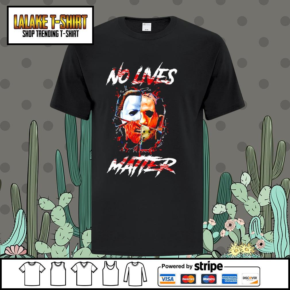 Horror movie characters chibi no lives matter Halloween shirt