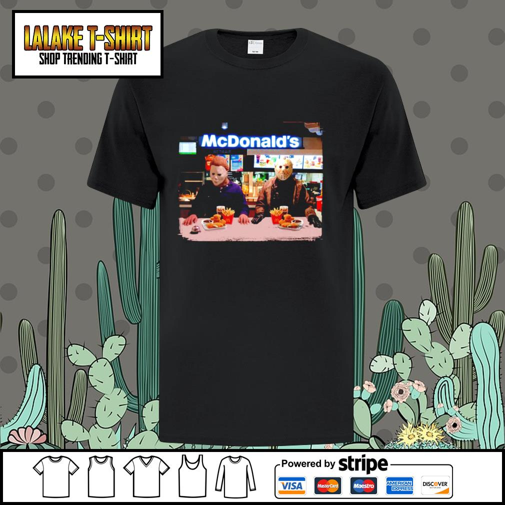 Jason Voorhees and Michael Myers McDonald's shirt
