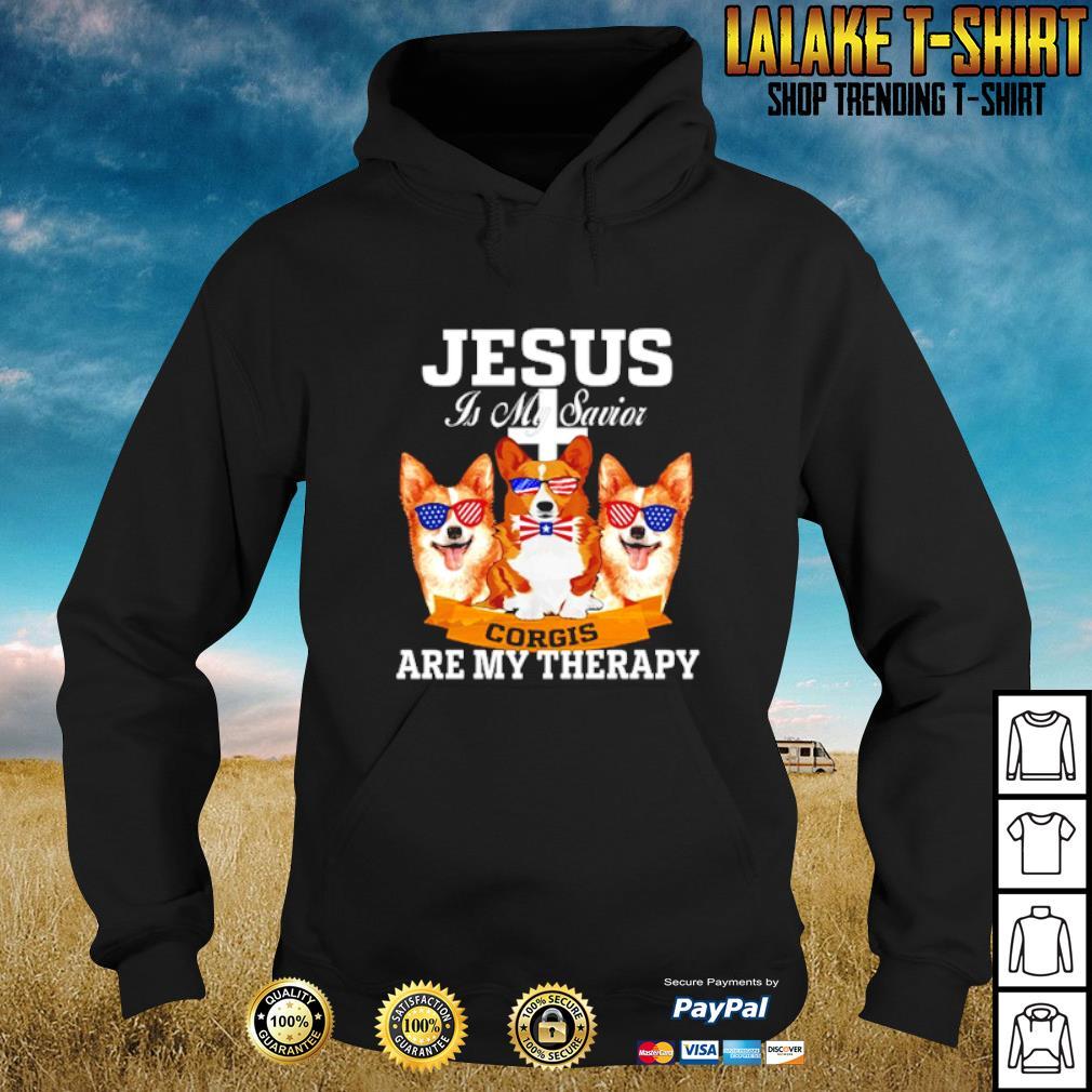 Jesus is my savior corgis are my therapy s hoodie