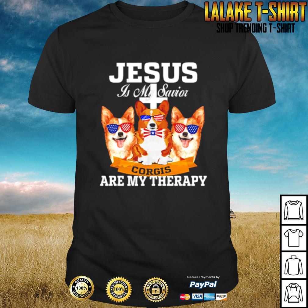 Jesus is my savior corgis are my therapy shirt