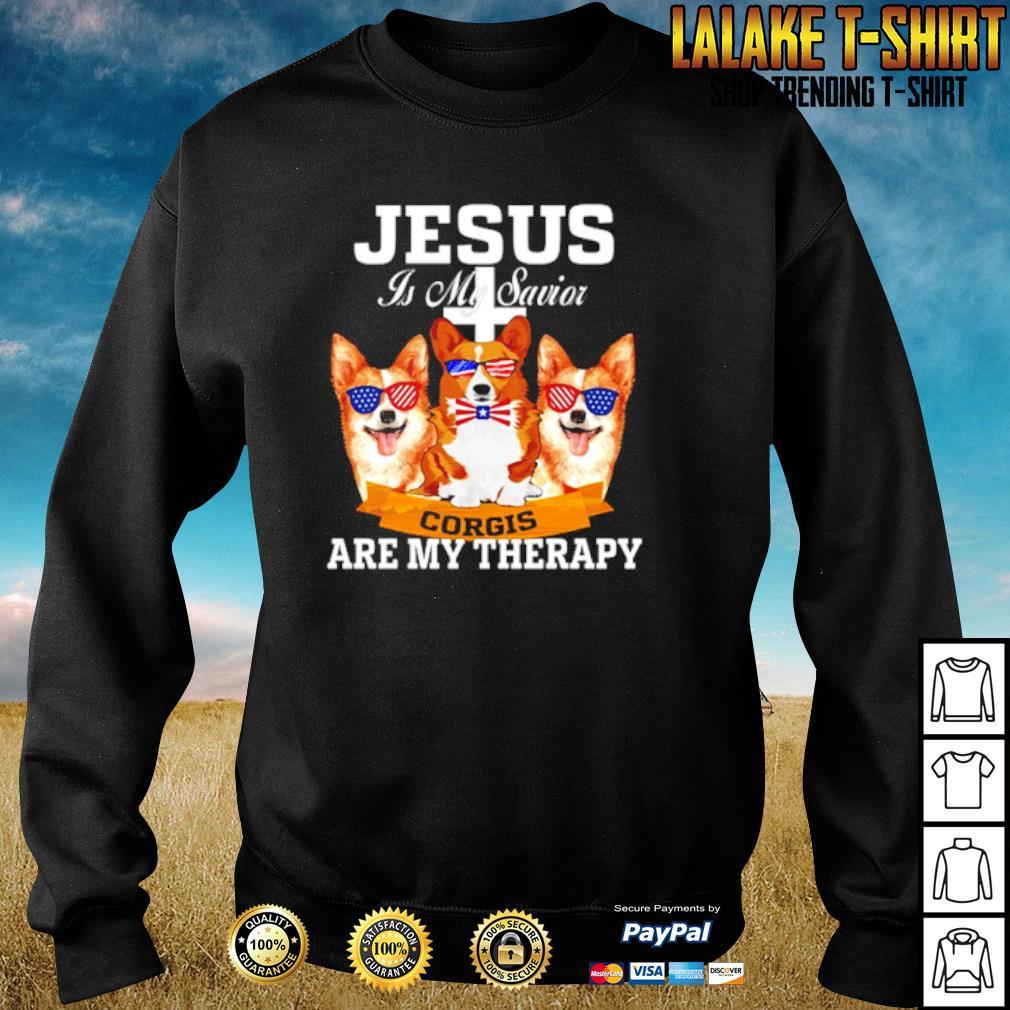 Jesus is my savior corgis are my therapy s sweater
