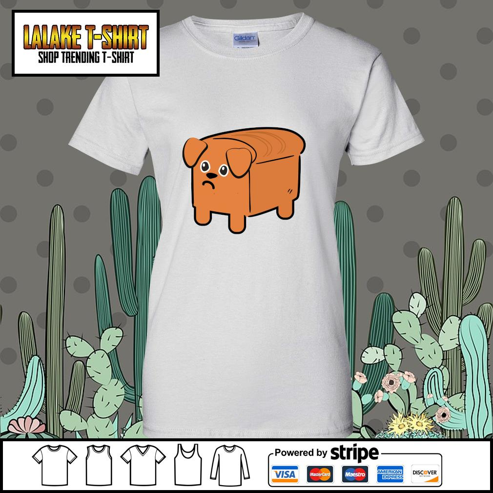 Milk bread dog cute s ladies-tee