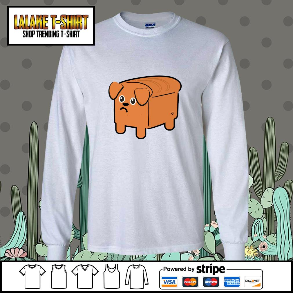 Milk bread dog cute s longsleeve-tee