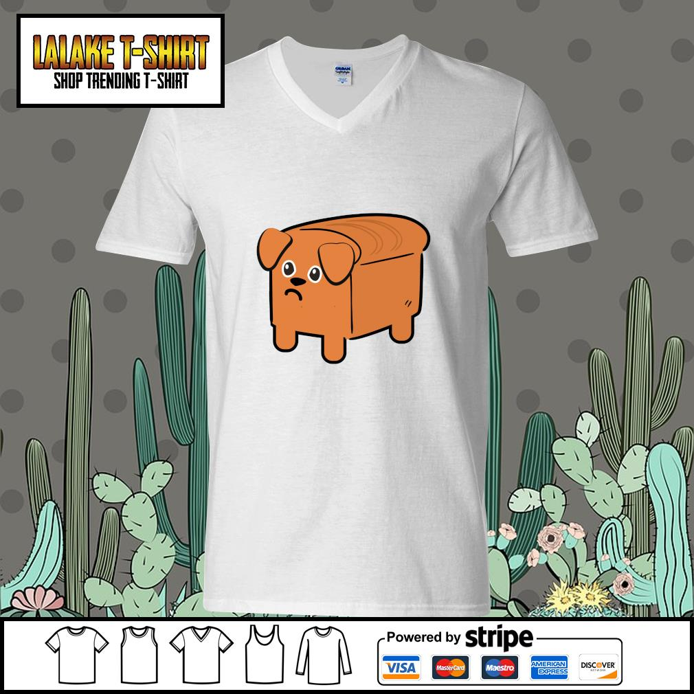Milk bread dog cute s v-neck-t-shirt