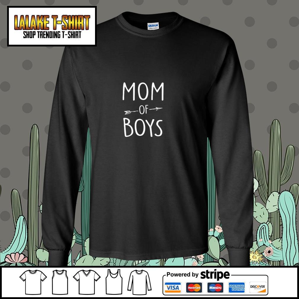 Mom of boys s longsleeve-tee