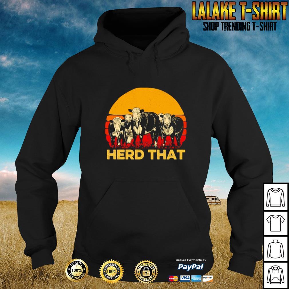 Vintage cow herd that s hoodie