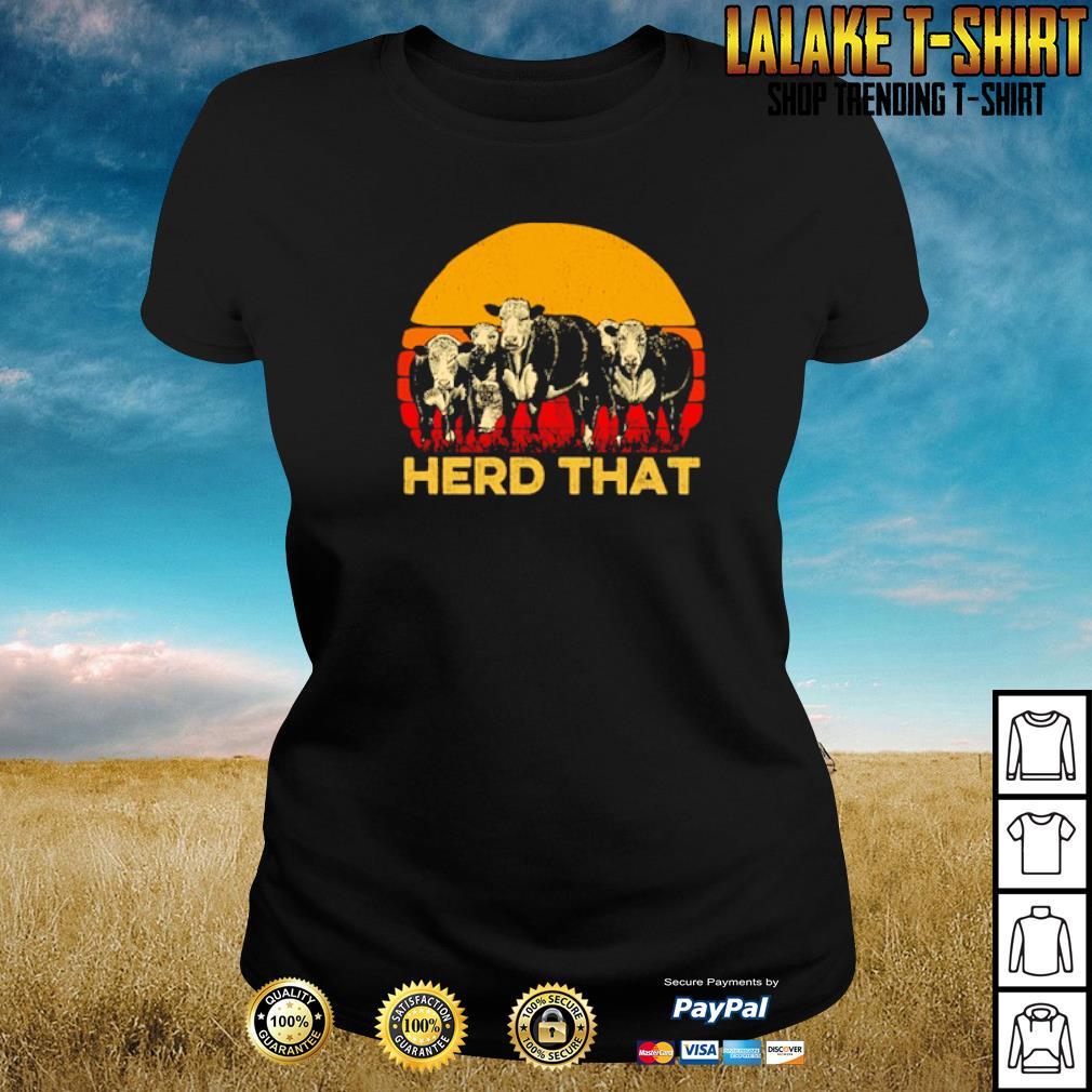 Vintage cow herd that s ladies-tee
