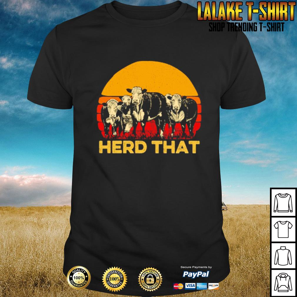 Vintage cow herd that shirt