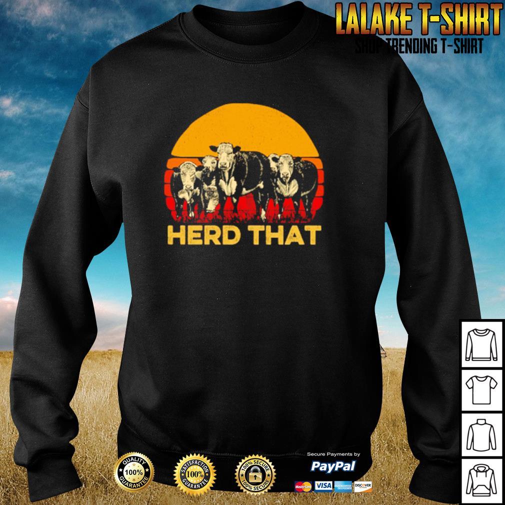 Vintage cow herd that s sweater