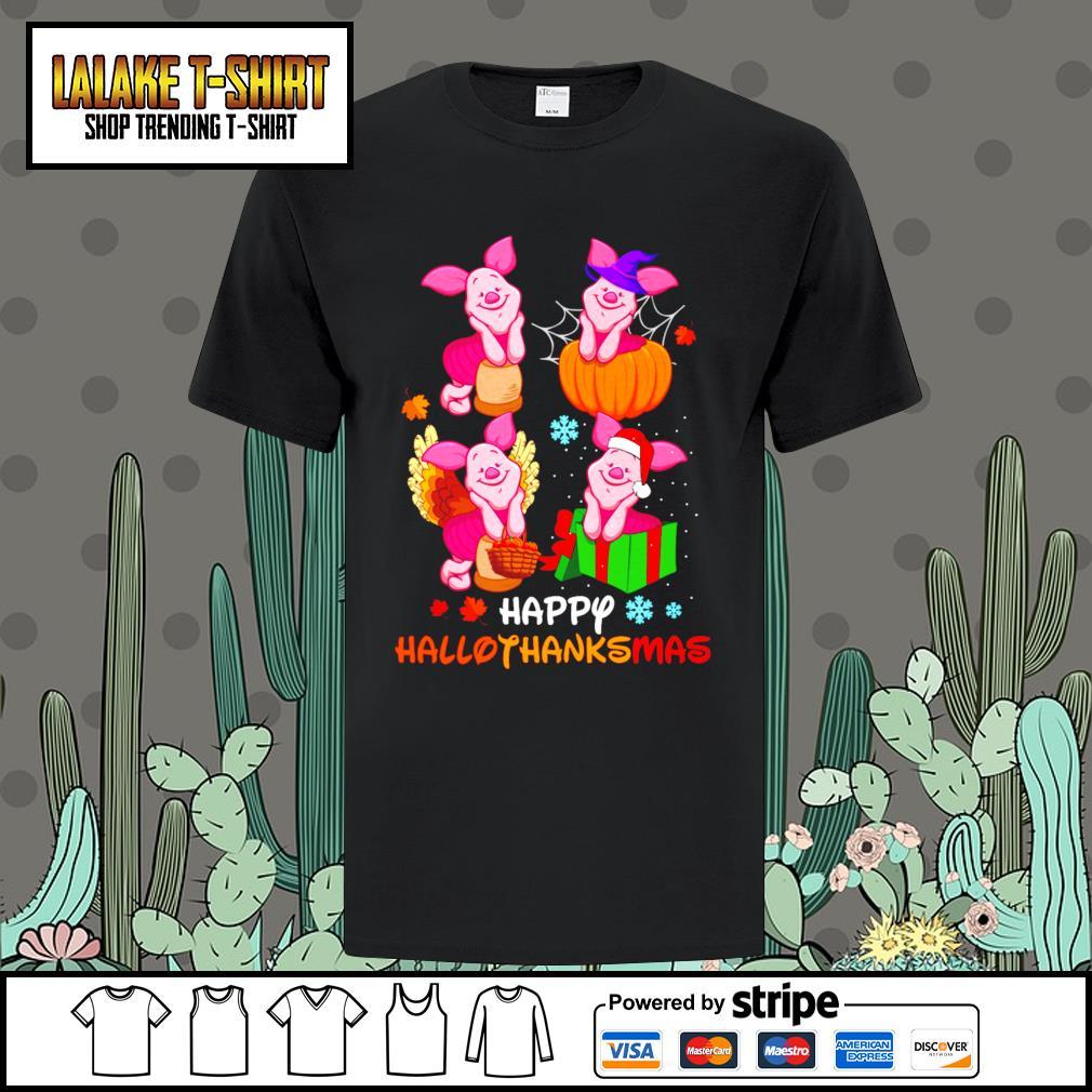 Piglet Happy Hallothanksmas shirt