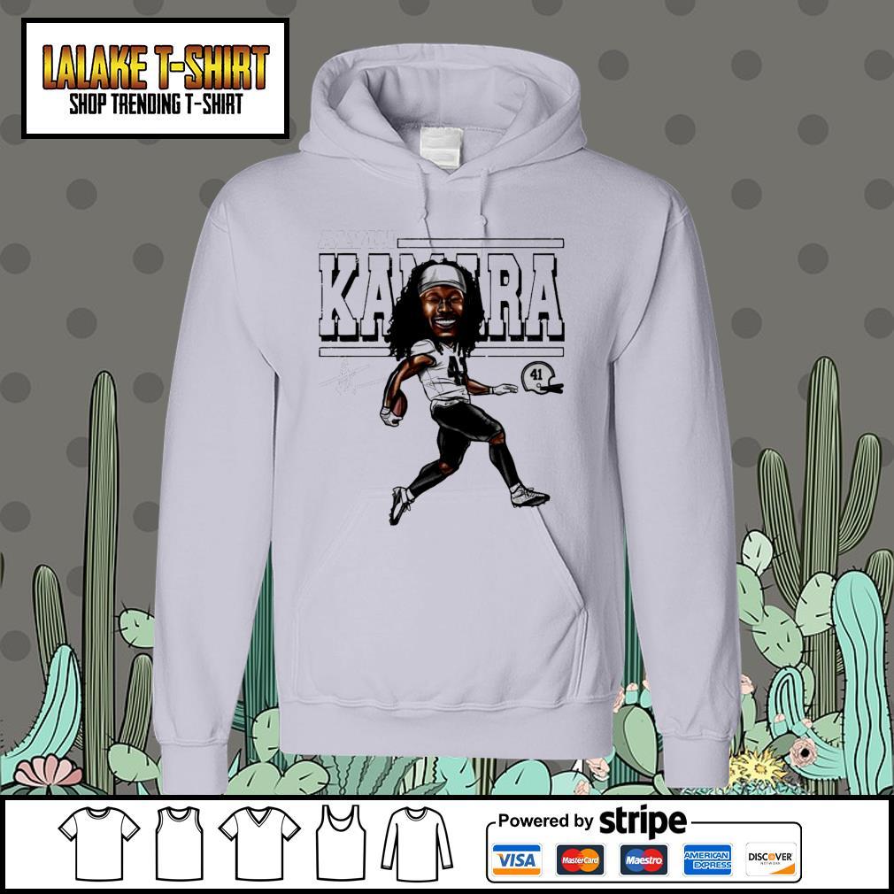 Alvin Kamara Cartoon New Orleans football signature s Hoodie
