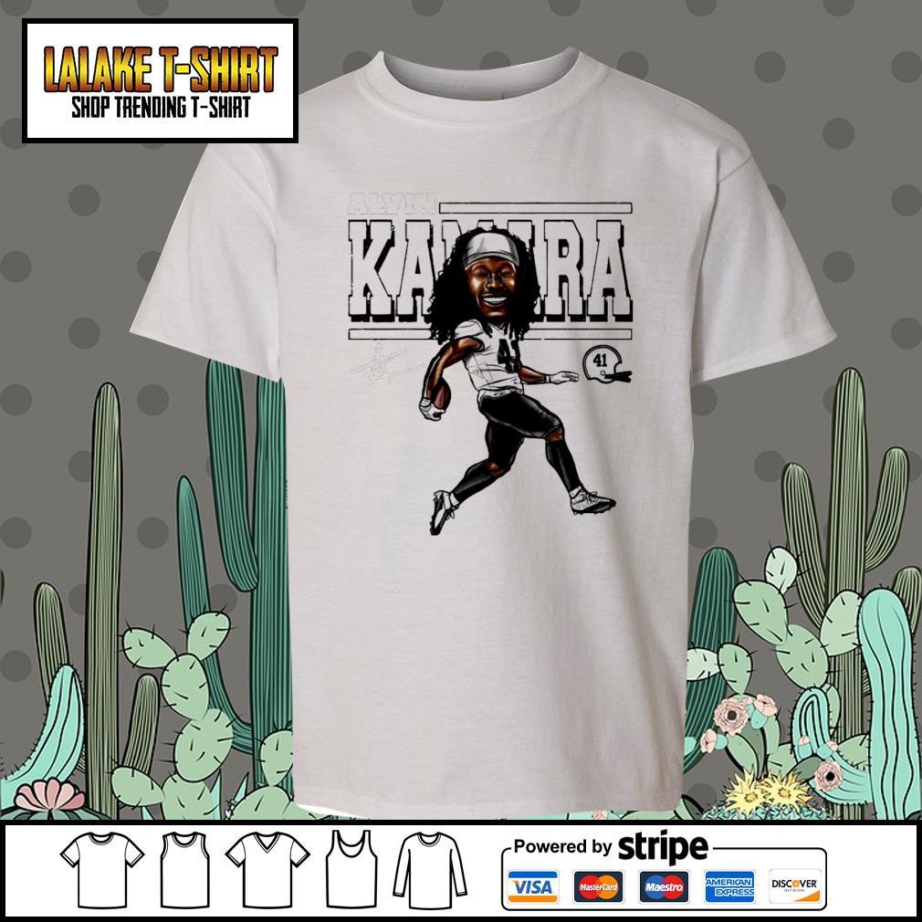 Alvin Kamara Cartoon New Orleans football signature s Kid-T-shirt