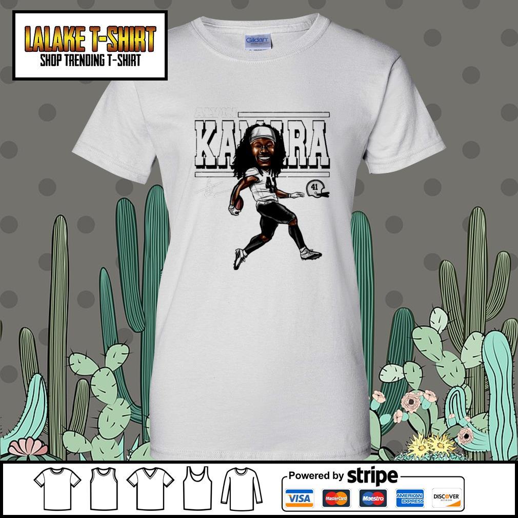 Alvin Kamara Cartoon New Orleans football signature s Ladies-Tee