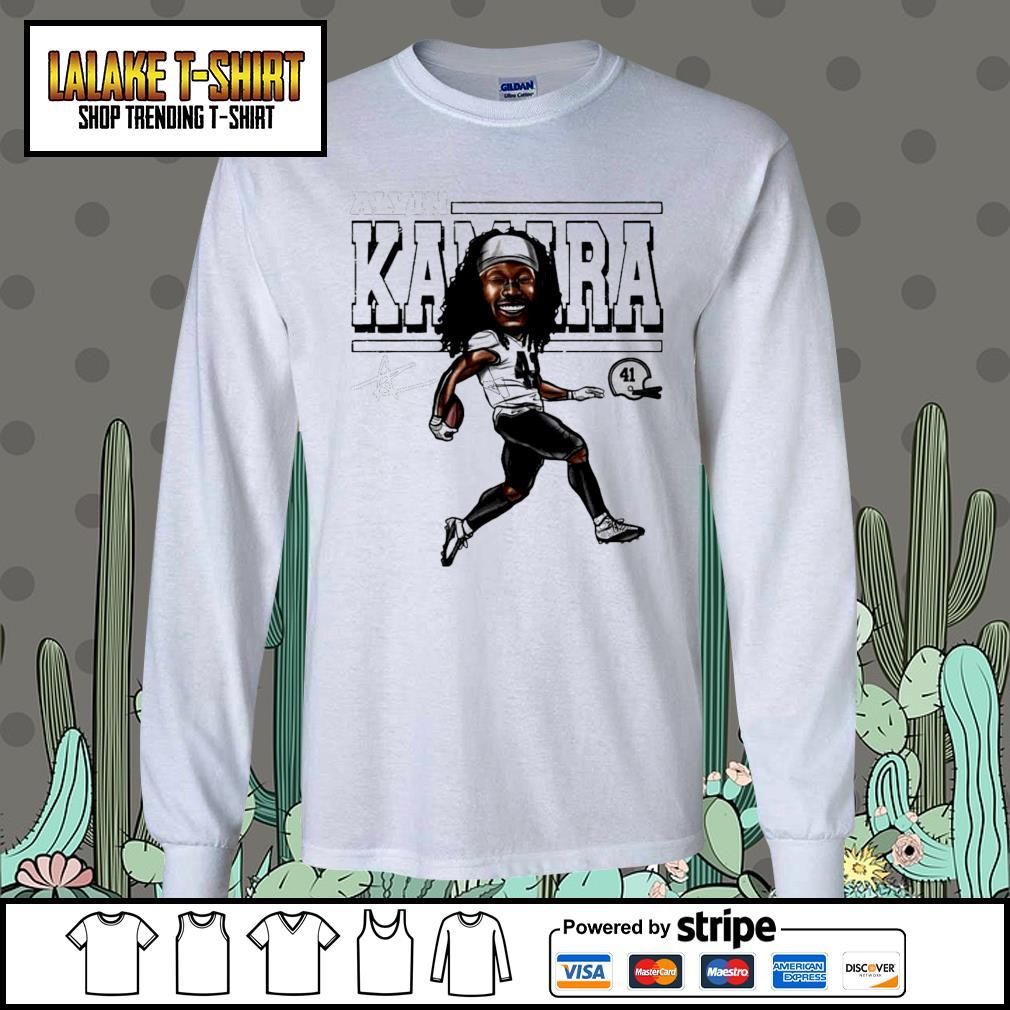 Alvin Kamara Cartoon New Orleans football signature s Long-Sleeves-Tee