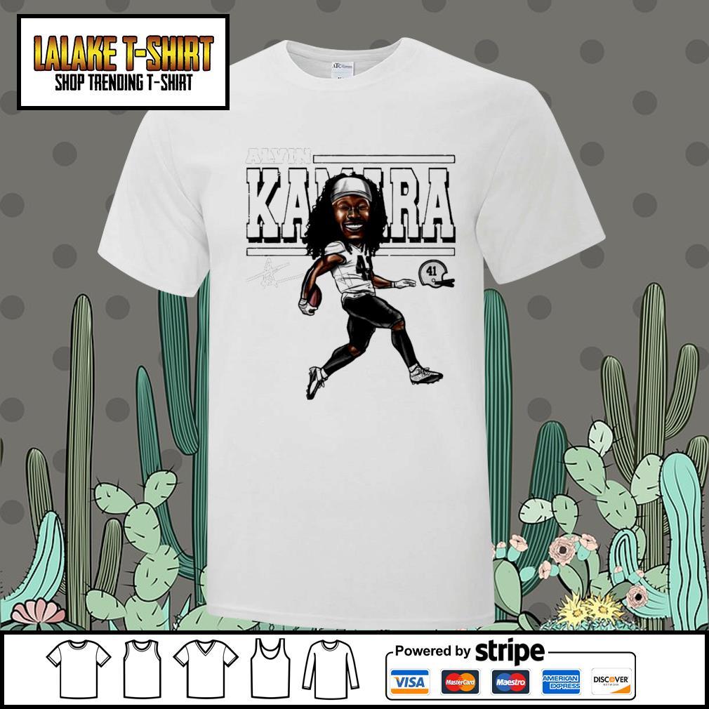Alvin Kamara Cartoon New Orleans football signature shirt