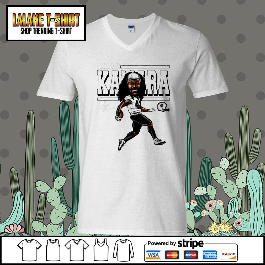 Alvin Kamara Cartoon New Orleans football signature s V-neck-T-shirt