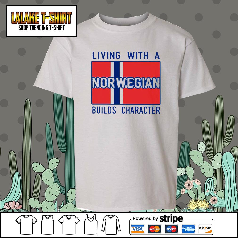 Living with Norwegian Builds character s Kid-T-shirt