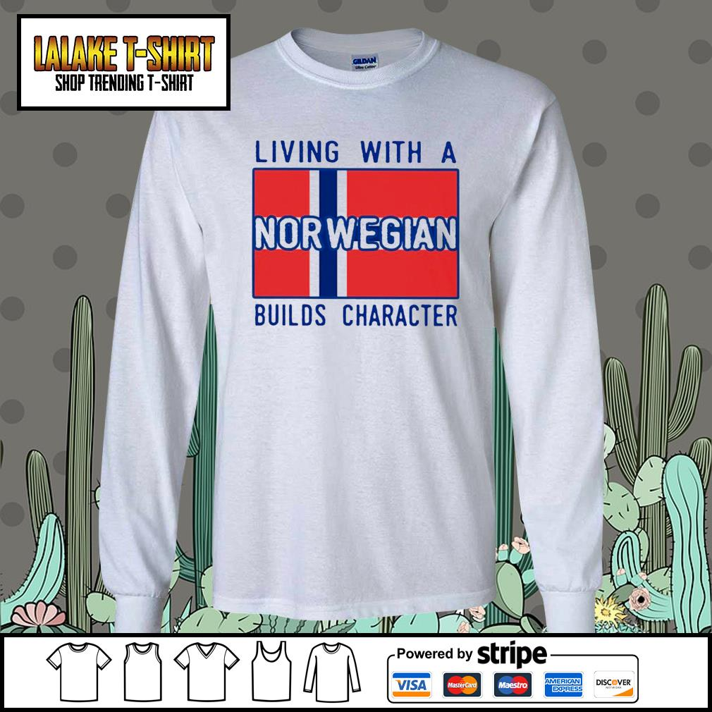 Living with Norwegian Builds character s Long-Sleeves-Tee