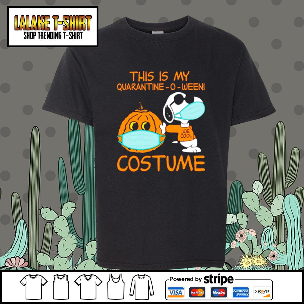 Snoopy This is my Quarantine -O-ween costume s Kid-T-shirt