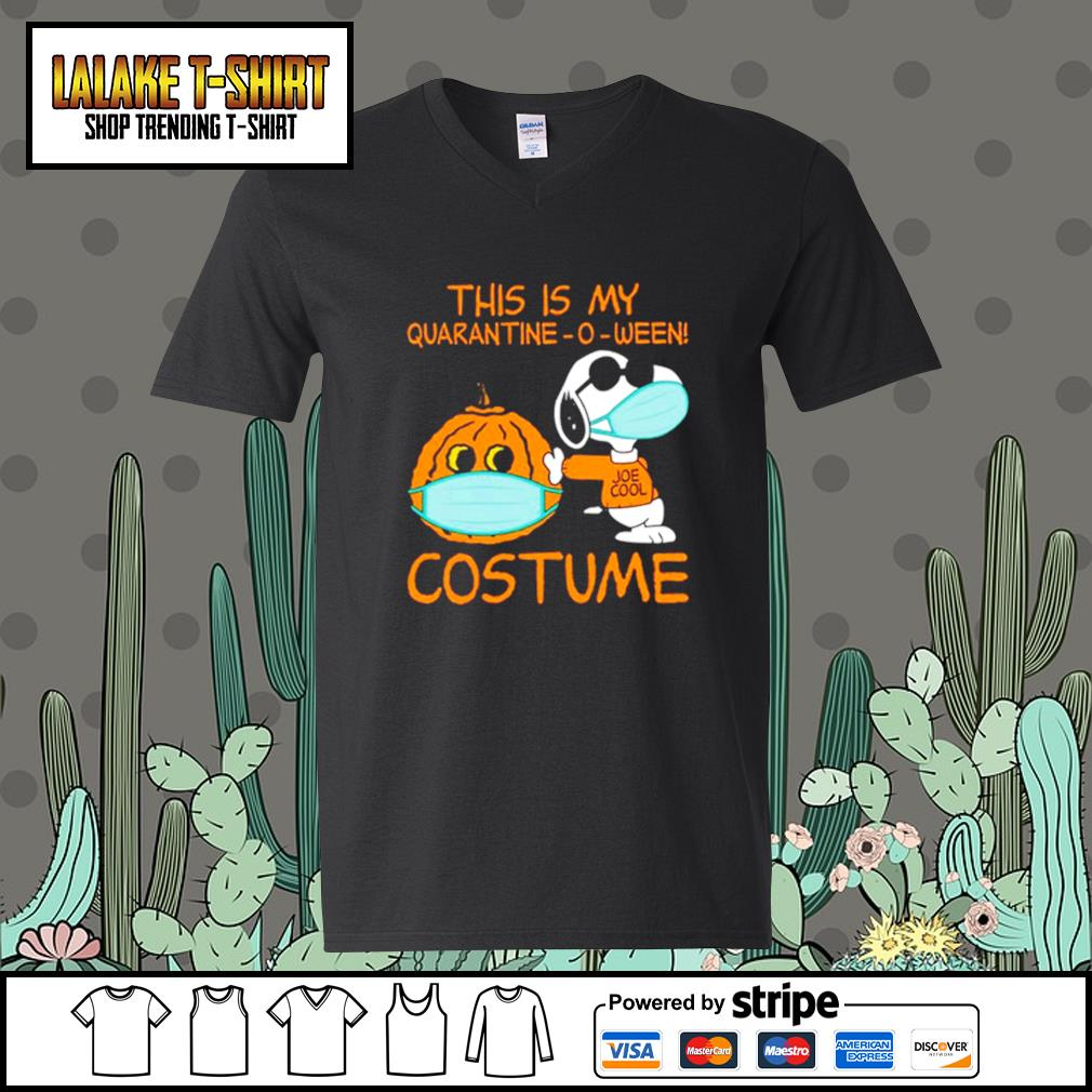 Snoopy This is my Quarantine -O-ween costume s V-neck-T-shirt
