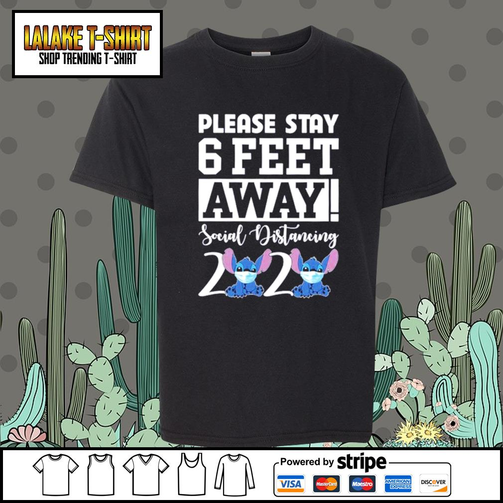 Stitch please stay 6 feet away social distancing 2020 s Kid-T-shirt
