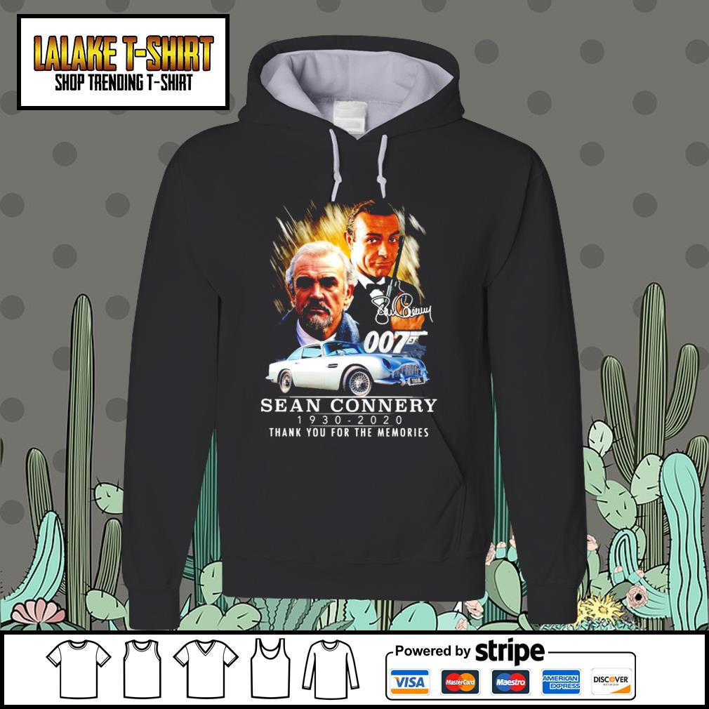 007 Sean Connery 1930 2020 thank you for the memories signature s Hoodie