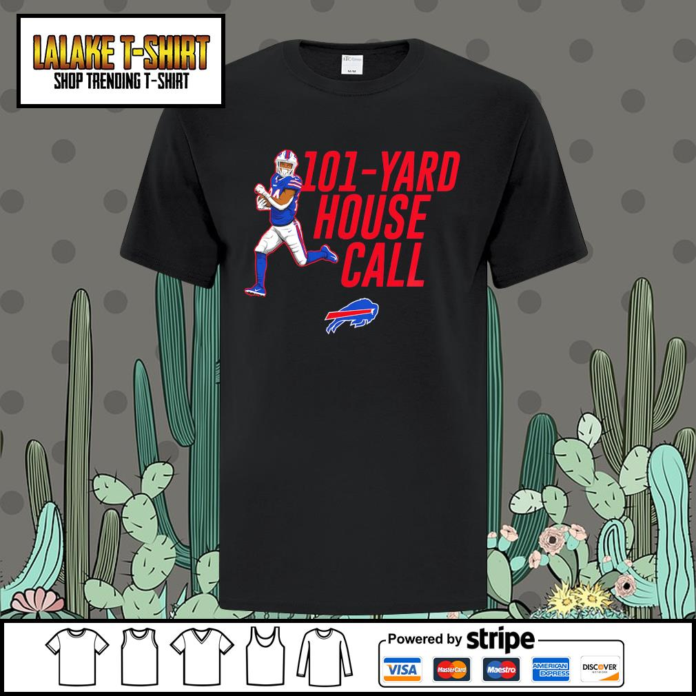101 yard house call Taron Johnson Buffalo Bills shirt