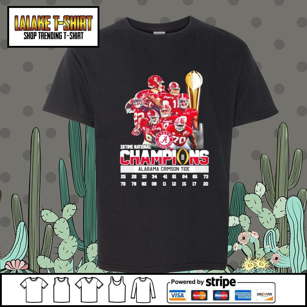18 time national champions Alabama Crimson Tide signatures s Kid-T-shirt