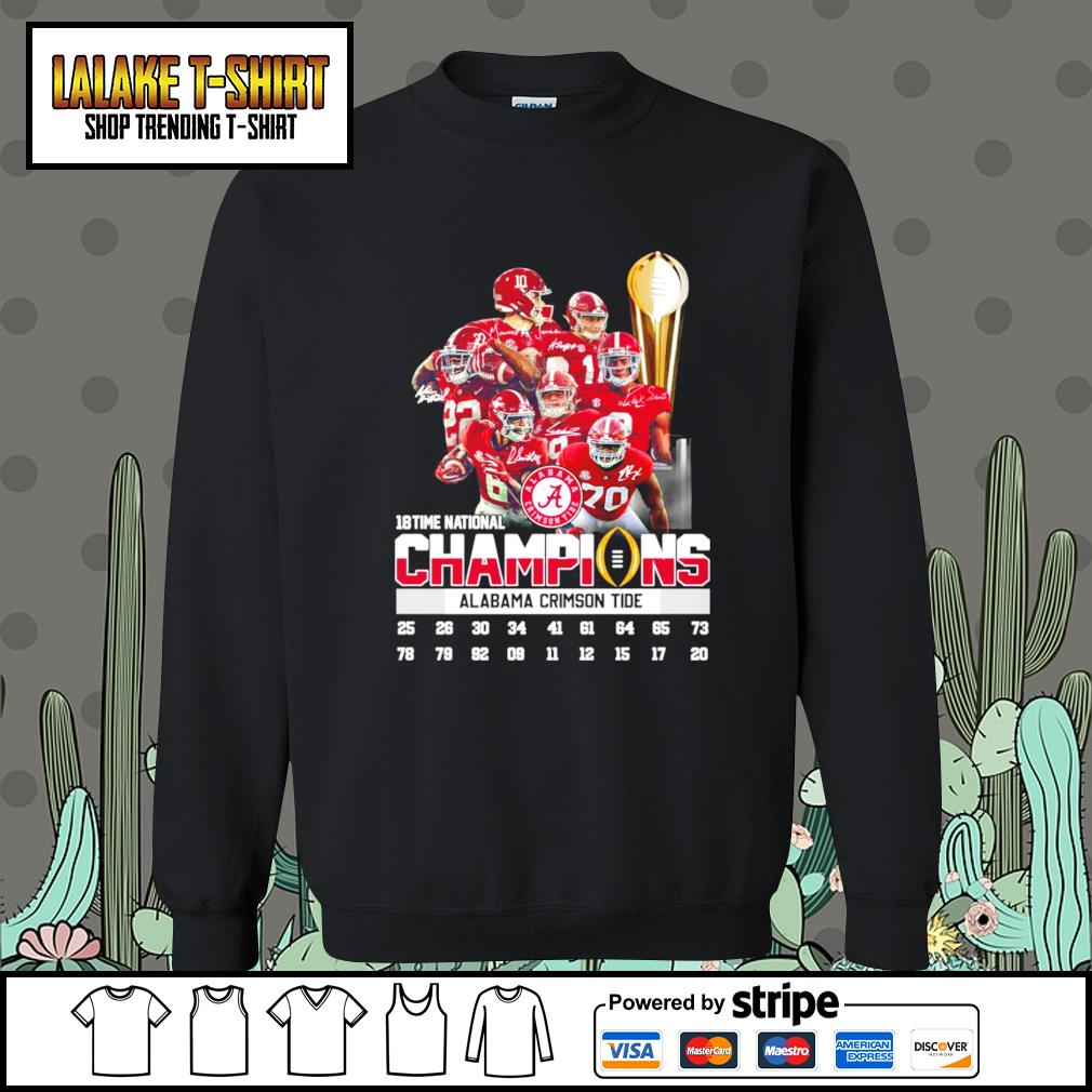 18 time national champions Alabama Crimson Tide signatures s Sweater