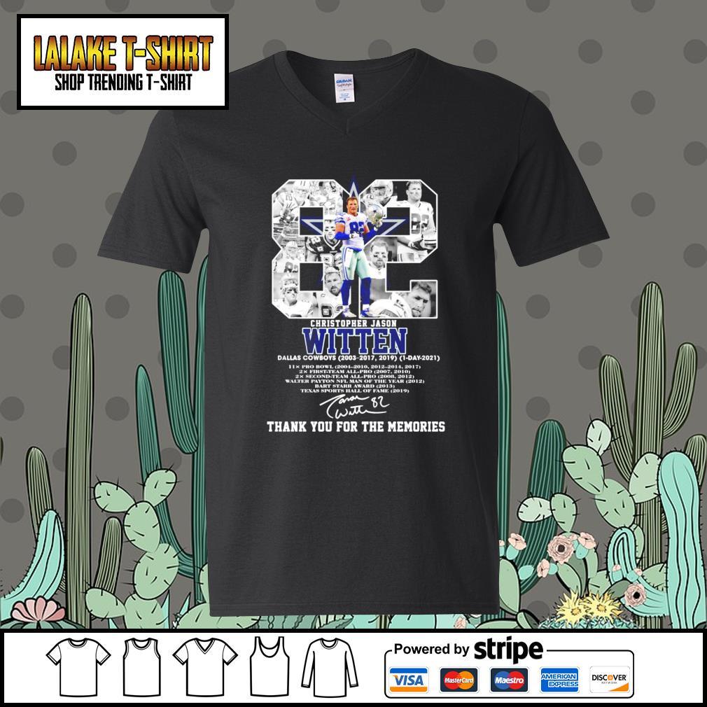 82 Christopher Jason Witten Dallas Cowboys signature s V-neck-T-shirt