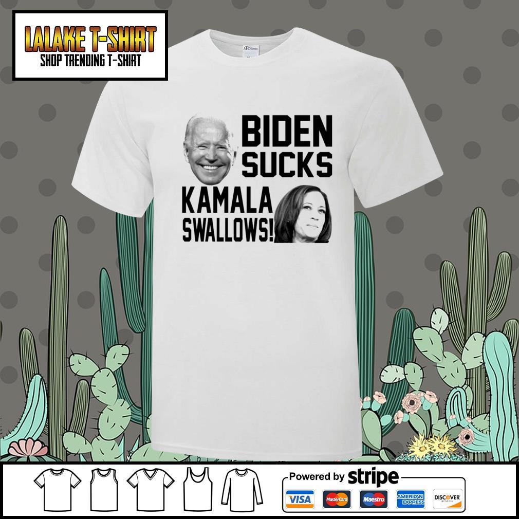 Biden sucks Kamala swallows shirt