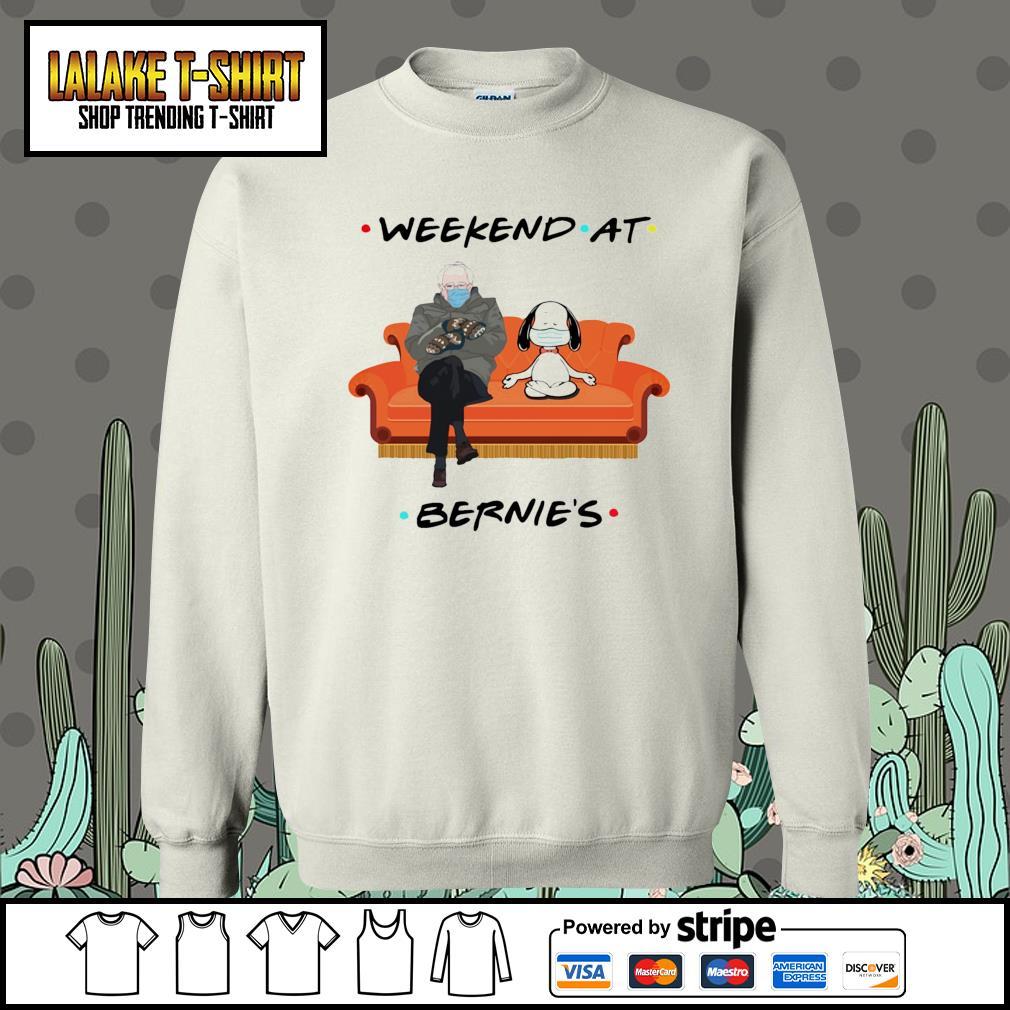 Bernie Sanders and Snoopy yoga weekend at Bernie's s Sweater