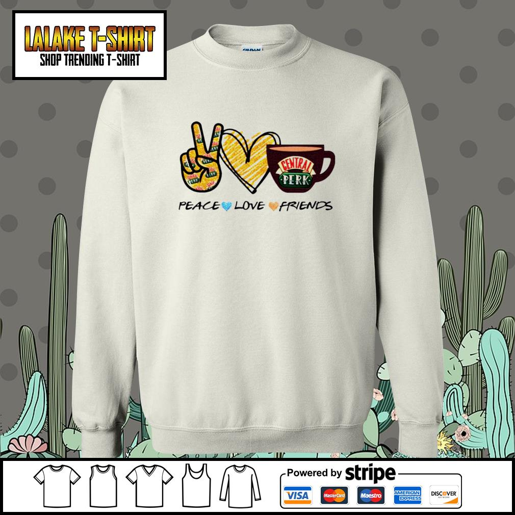 Central perk peace love friends s Sweater
